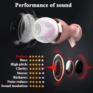 Image 2 - Проводные наушники In Ear, водонепроницаемые магнитные стереозвуки, наушники с микрофоном, гарнитура для iPhone, Android, мобильные наушники