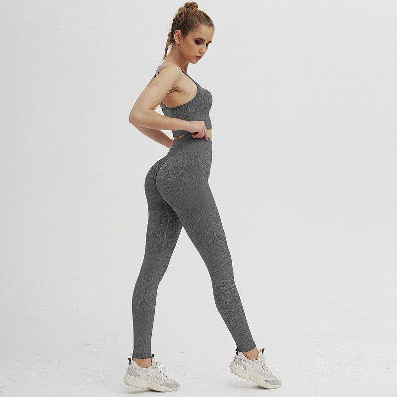 conjunto sutiãs + leggings activewear conjunto de