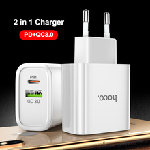 HOCO 18W USB Type C PD Charger voor iPhone 11 Pro XR XS Max Quick Charge 4.0 3.0 Snelle USB Oplader voor Samsung Xiaomi QC3.0 QC4.0