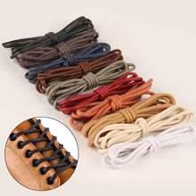 1 пара из вощеного хлопка круглые шнурки для ботинок кожаные Водонепроницаемый шнурки для ботинок ботинки martin шнурки спортивные шнурке 60/80/100/120/140 см