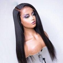 Cabelo natural 5*5 pu peruca de base de seda longa u parte livre renda frente perucas de cabelo humano com cabelo de bebê para mulheres
