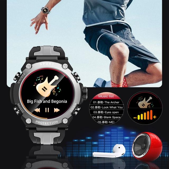 New Smart watch Men Music Play IP68 Waterproof 1.3 inch Sport Digital Men Watch,Compass & weather Smartwatch For ios Android 3