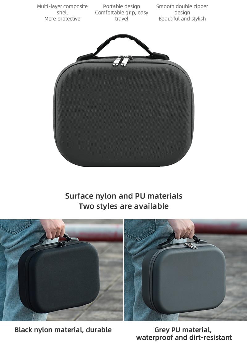 2 drone acessórios saco armazenamento à prova