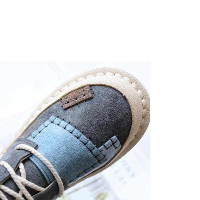 Image 5 - BEYARNEwomens bottomed flat boots, soft bottom comfortable woollen line Martin boots,handmade Institute womens bootsE893Ankle Boots   -