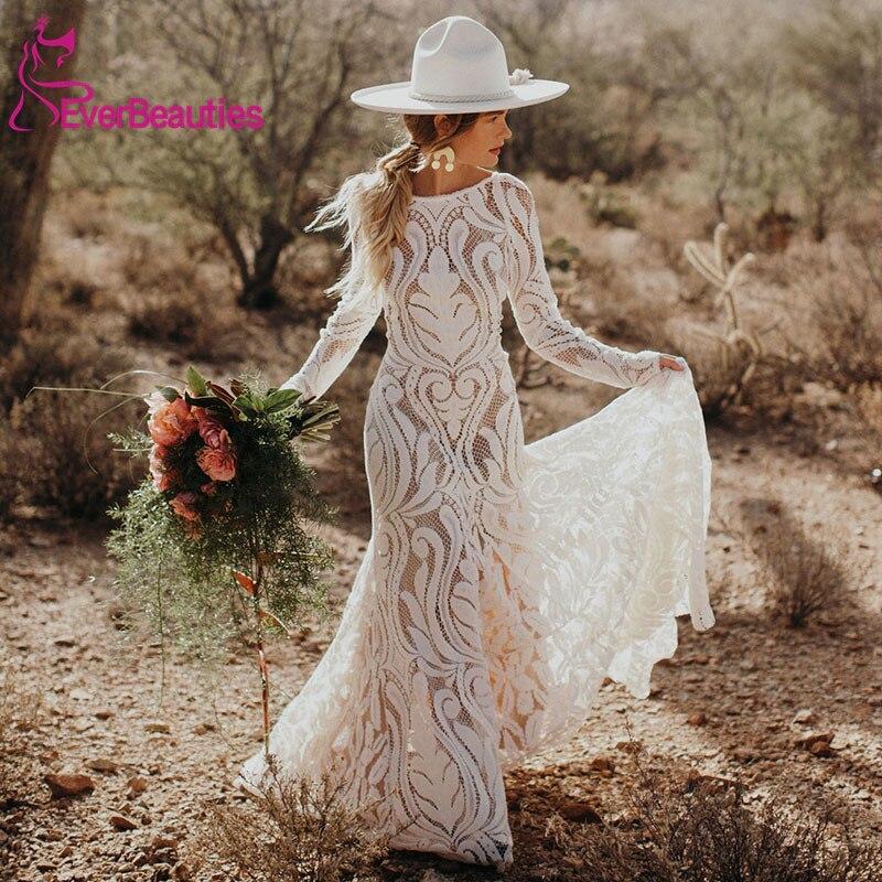 Unique Bride Bohemian Wedding Dress