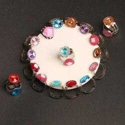 10 pc/lote amor crianças bonito doce anéis flor coração padrão anel jóias moda menina criança presentes vestir-se fingir jogar acessórios