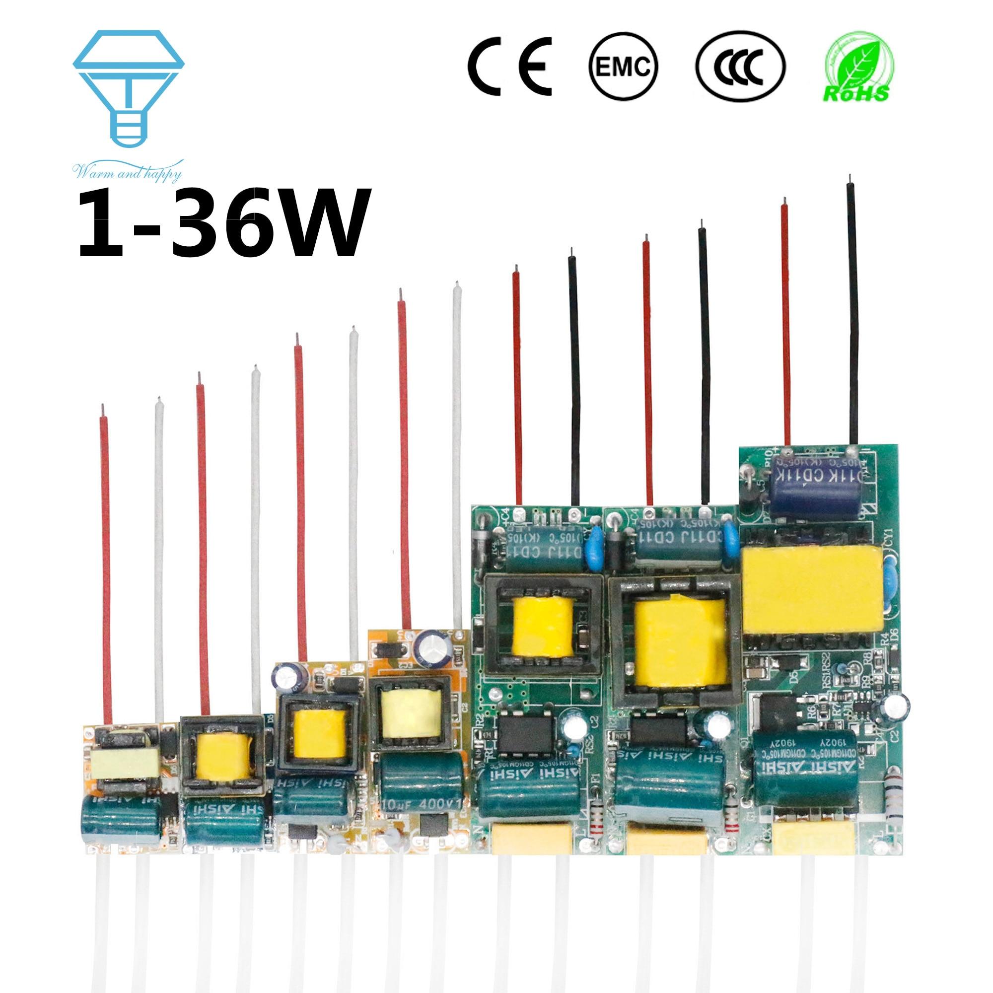 LED Driver 300mA 1-3W 3-5W 4-7W 8-12W 12-18W 18-25W 25-36W LED Power Supply Unit 350mA AC90-265V Lighting Transformers For LEDs