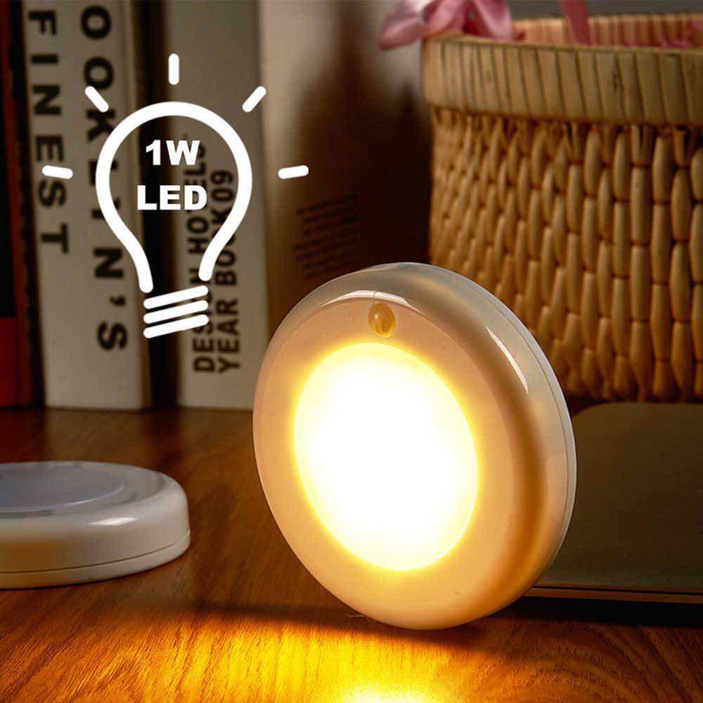 Super Bright 9 LED Motion Sensor ไฟไร้สาย Light Sensor ภายใต้ตู้ Closet Light เครื่องตรวจจับไฟ led กับแม่เหล็ก