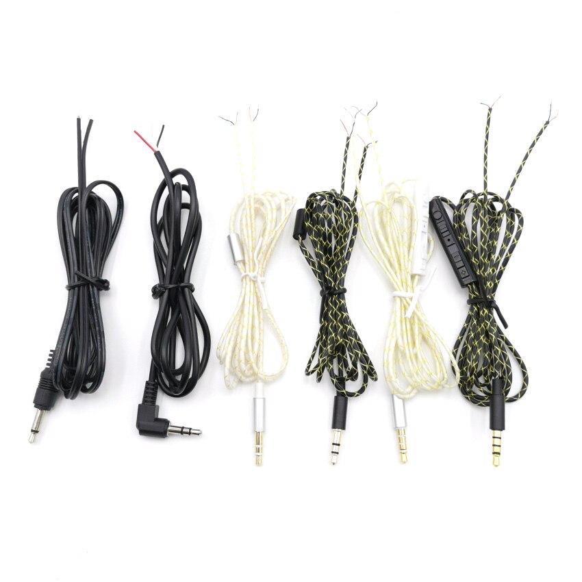 5 pièces 3.5mm Jack bricolage écouteur câble Audio câble de remplacement pour casque monocristallin fil de cuivre écouteur câble de réparation