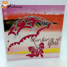 Kokorosa Cutting Dies Metal Umbrella Die Scrapbooking Album Card Making Embossing Stencil Diecuts Decoration