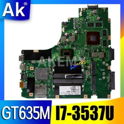 AK K46CB/K46CM Laptop płyta główna For Asus K46CB K46CM K46C K46 Test oryginalna płyta główna I7-3537U GT635M