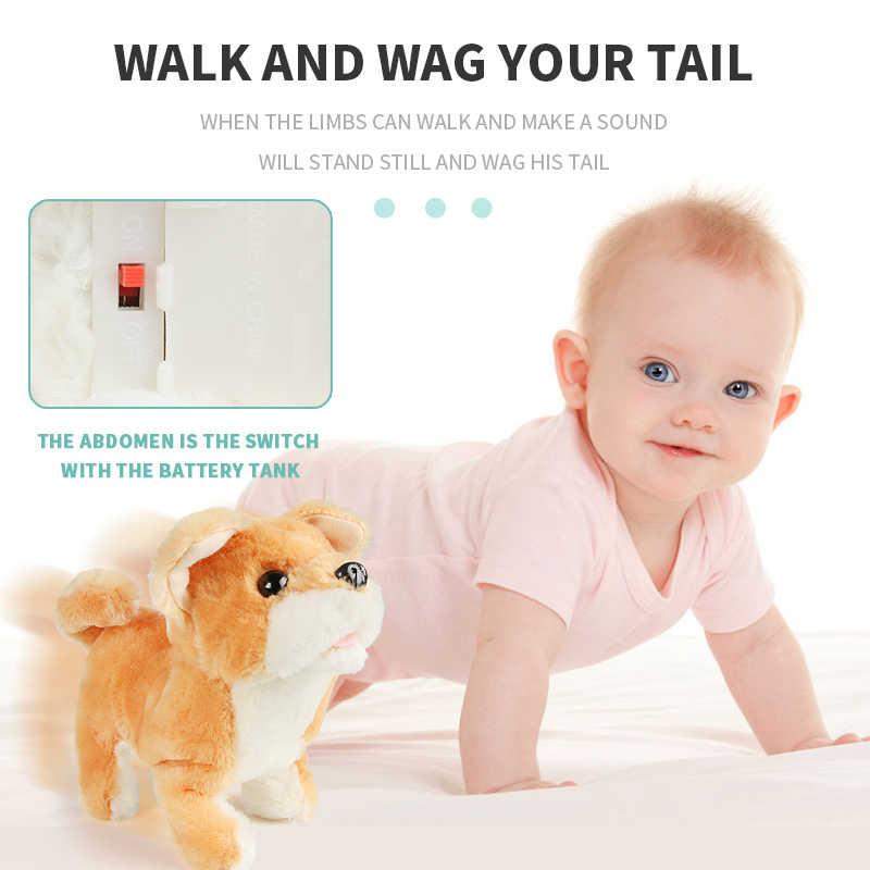 Pet Elettronico Interattivo Robot Dog Bark Basamento Passeggiata Guinzaglio Elettronico Giocattoli di Peluche Cute Puppy Pet Giocattoli per I Bambini Regali per Bambini