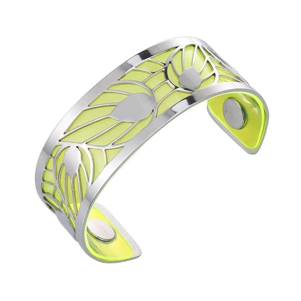 1/pieza de brazalete Reversible de cuero de 25mm de Cremo, accesorio de brazalete de joyería Georgette, brazalete colorido de goma para mujer