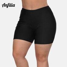 Anfilia Women High Waist Plus Size Swimming Shorts Ladies Bikini Bottom Swimwear Briefs Boardshort Trunks