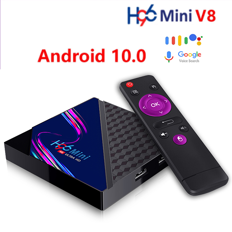 Android Smart TV Box Android 10.0 4K 2G16G Netflix Google Assistant 2.4G WIFI TV Set-Top Box qhdtv Media Player