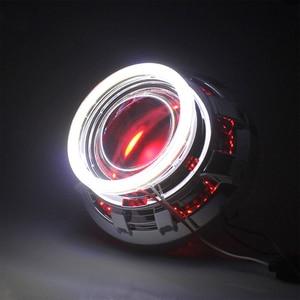Image 5 - 1 쌍 밝은 천사 눈 cob led 빛 헤일로 링 전구 자동차에 대 한 플라스틱 drl 헤드 라이트 램프 dc 12 v 24 v