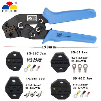 Crimping pliers jaw for 190mm pliers flag types female insulation terminal SN-01C SN-02 SN-02B SN-02C  high hardness jaw tools цена 2017