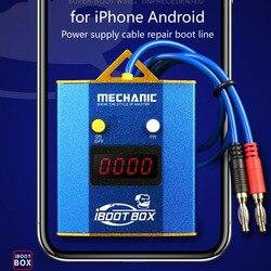 Mecânico iboot caixa de alimentação cabo de teste placa-mãe para iphone android telefone móvel reparação da bateria linha inicialização