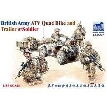 BRONCO CB35207 1/35 İngiliz ordusu ATV arazi aracı ve römork w/Sodier ölçekli model seti