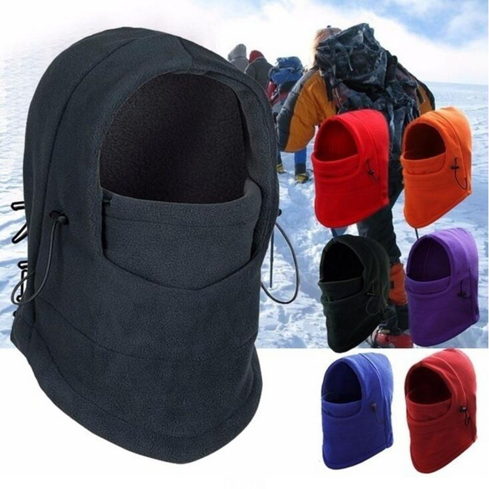 Winter Thermal Fleece Hats Men Neck Warmer Hat Ski Hat Face Mask Windproof Cap Balaclava Sport Running Cycling Hiking Unisex Hat