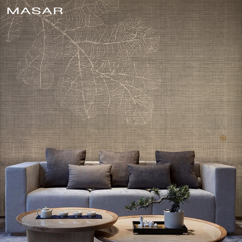 MASAR Original Simple Color Fresco Old Room Living Room Dining Room Business Background Wall Wallpaper Oak Leaf