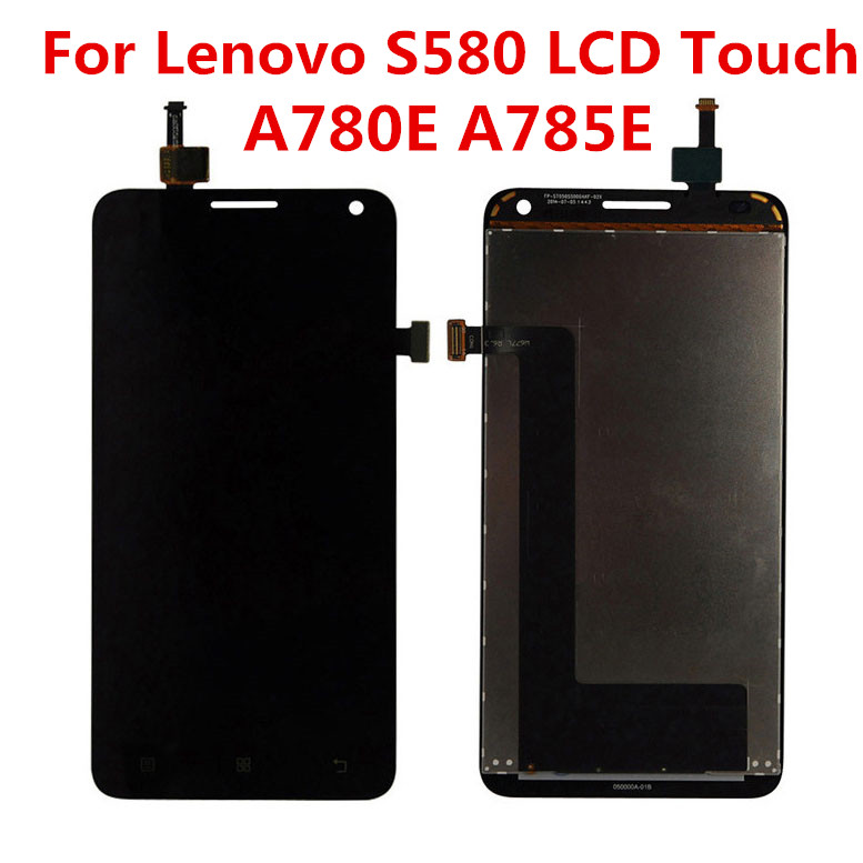 JIEYER For Lenovo S580 LCD A785E A780E Touch Screen Digitizer Panel Assembly Frame Replacement Parts For Lenovo S580 Display