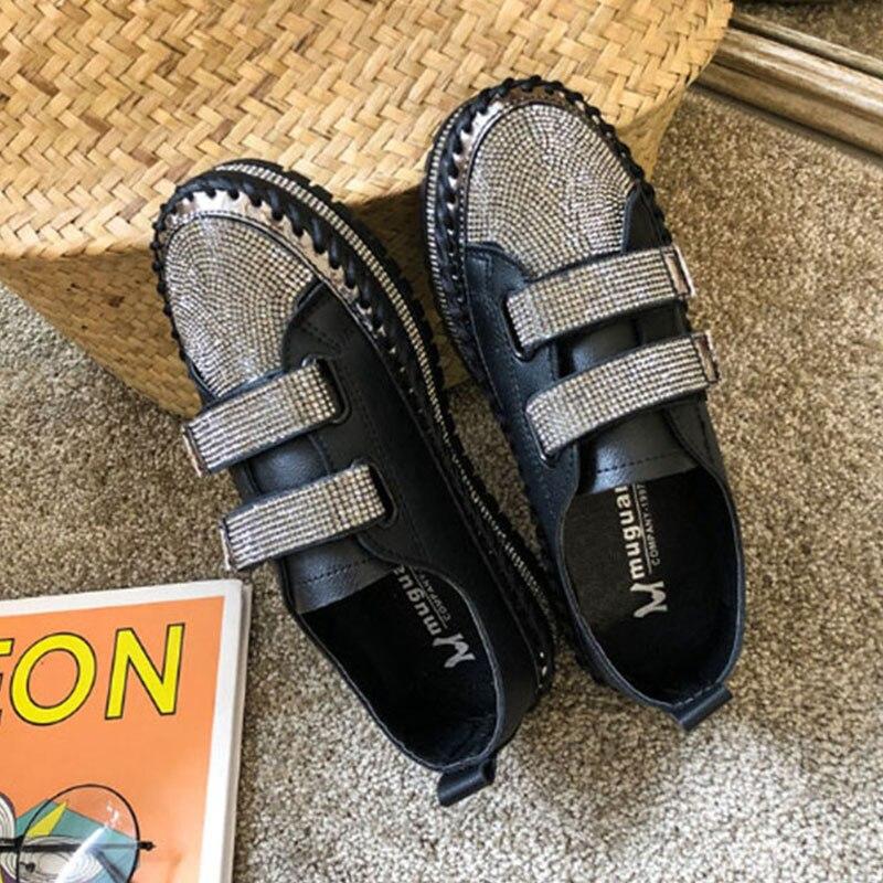 black flat platform shoes