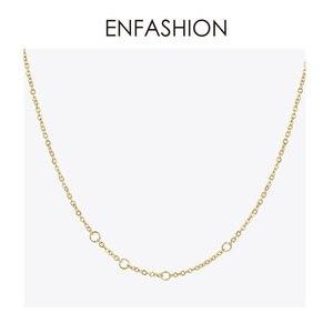 Image 5 - Enfashion metal fones de ouvido corrente gargantilha colar feminino cor do ouro aço inoxidável colares femme moda jóias p193048
