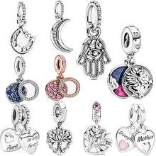 2020 Winter New 925 Sterling Silver Magical Unicorn Double Dangle Charms Beads fit Original Pandora Bracelet Women DIY Jewelry