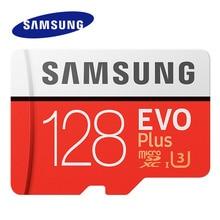 삼성 메모리 카드 EVO + EVO Plus 마이크로 SD 256GB 128G 64GB 32GB Class10 MicroSD 카드 C10 UHS I Trans 플래시 MicroSD 카드