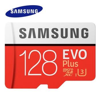 삼성 메모리 카드 EVO + EVO-Plus 마이크로 SD 256GB 128G 64GB 32GB Class10 MicroSD 카드 C10 UHS-I Trans 플래시 MicroSD 카드