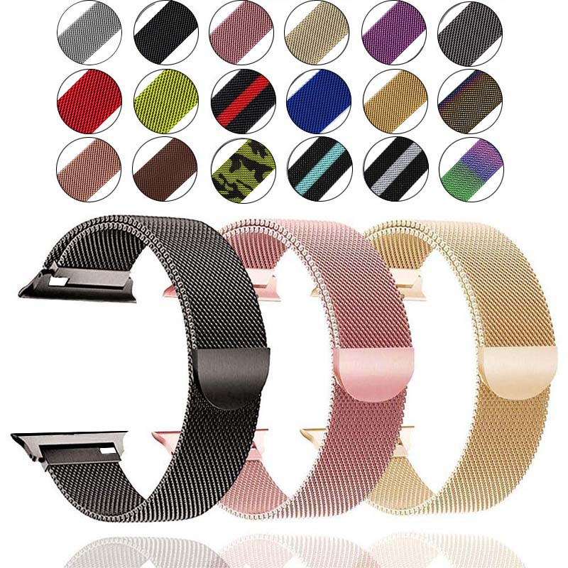 Bracelet-Strap Band Iwatch-Accessories Apple Watch 40MM Stainless-Steel 42MM Milanese