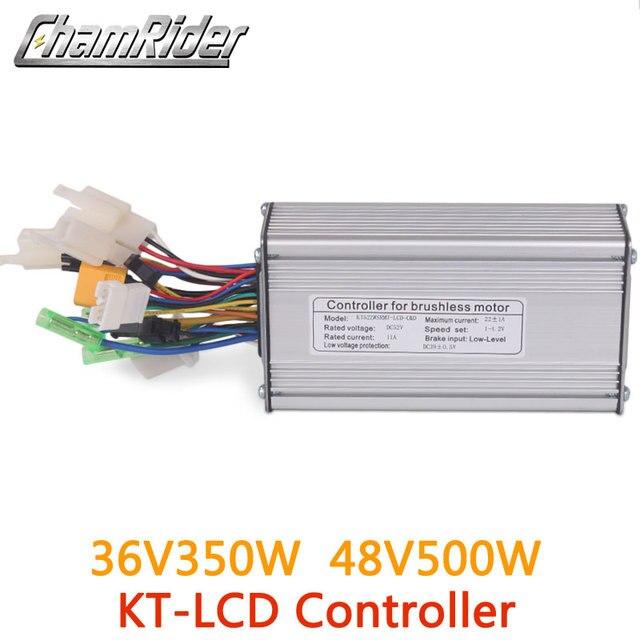 電動自転車36v 48v 500ワット電動自転車ブラシコントローラデュアルモードホールセンサとホールセンサレスktシリーズサポートled液晶
