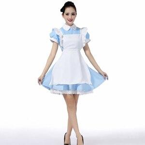 Image 5 - למעלה למכור אליס בארץ הפלאות Cosplay תלבושות לוליטה שמלת עוזרת סינר שמלת פנטזיה קרנבל ליל כל הקדושים תלבושות עבור נשים