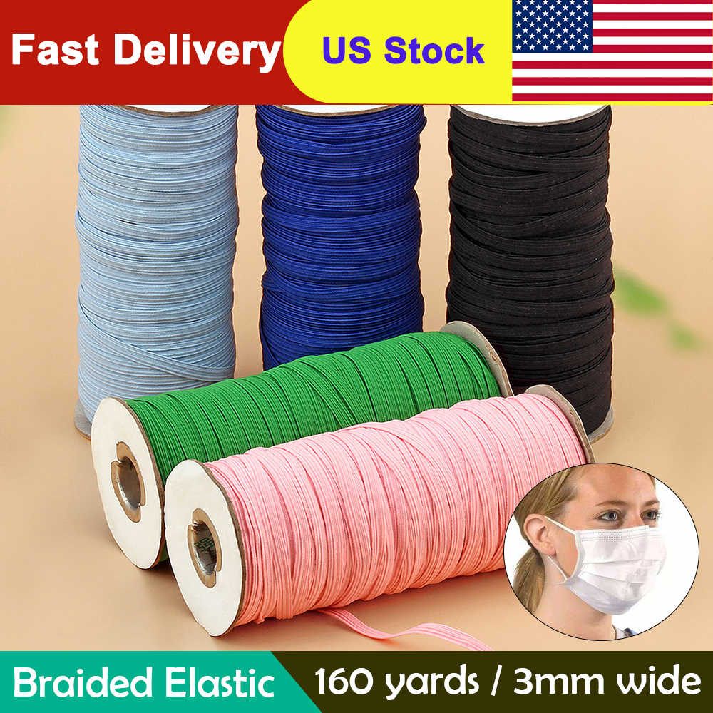 3mm Colorful Mask Elastic Rubber Band Mask Ear Hanging Rope Round Elastic Band Diy Craft Sewing Garment Accessories Aliexpress