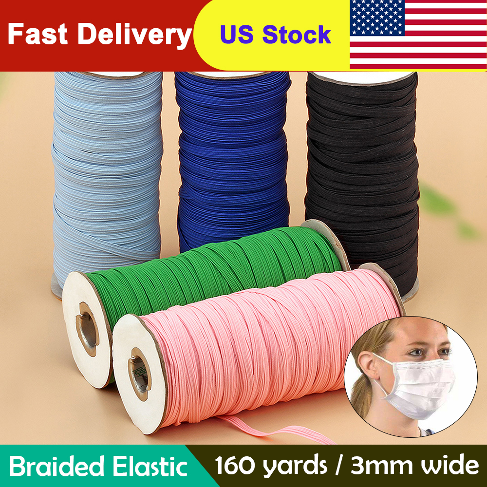 3mm Colorful Mask Elastic Rubber Band Mask Ear Hanging Rope Round Elastic Band DIY Craft Sewing Garment Accessories