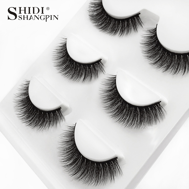 3 Pairs natural false eyelashes thick makeup real 3d mink lashes soft eyelash extension fake eye lashes long mink eyelashes 3d 5