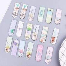 Magnetic Bookmarks Cactus Paper-Clip Office-Supplies School Fresh 6pcs/Set