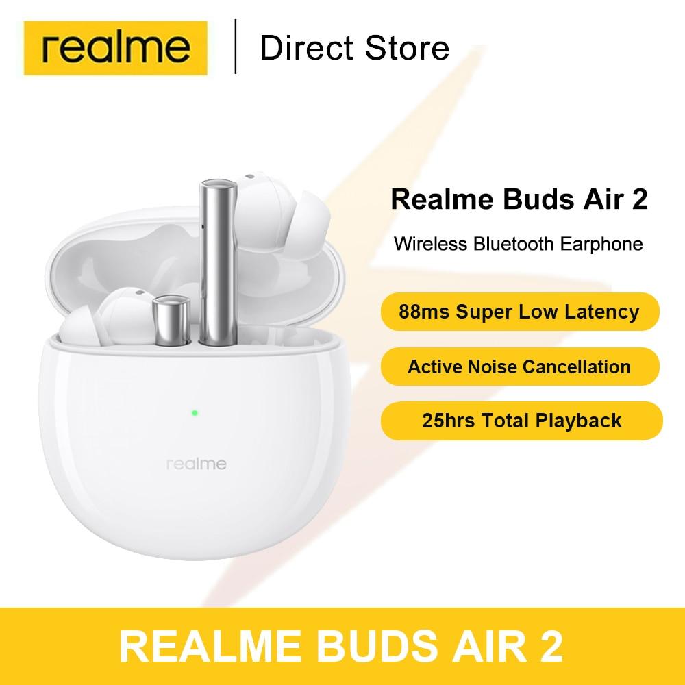 Глобальная версия мировая премьера Realme бутоны Air 2 Беспроводной Наушники Hi-Fi Шум отмены Dual микрофоном ENC Bluetooth гарнитуры