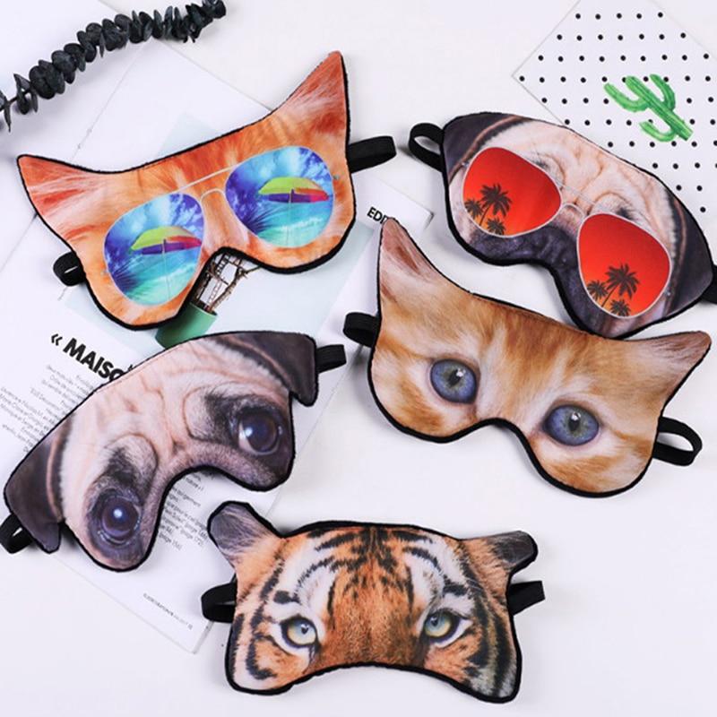 1PCS Cute Fashion 3D Animal Printing Sleeping Eye Mask Travel Covers Eye-shade Sleeping Tools Blindfold Relax Sleep Eyepatch