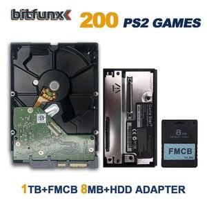 Image 5 - BitFunx FMCB 메모리 카드 1.953 8MB PS2 플레이 스테이션 2 + 게임 스타 SATA HDD 어댑터 + SATA HDD 하드 디스크 드라이브 설치 게임