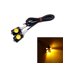 2 Pcs LED Motorcycle Signal Lamp Super Bright LED Car Number License Plate Bolt Screw Tail Rear Light Brake Fog Lamp Bulb sencart 3 led rgb light motorcycle car decoration handle lamp silver black 3 x lr44 2 pcs