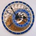 Креативные настенные часы в Праге  астрономические деревянные часы  настенные часы для гостиной  кварцевые часы для дома  Decoratio