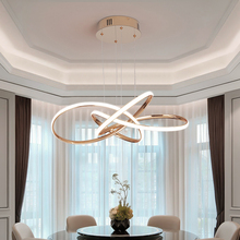 NEO Gleam Chrome/Gold Plated Modern led pendant lights for dining room kitchen Room Hanging Led pendant lamp 90 260V