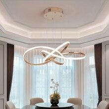 NEO Gleam Chrome/pozłacane nowoczesne lampy wiszące led do jadalni kuchnia pokój wiszące Led lampa wisząca 90 260V