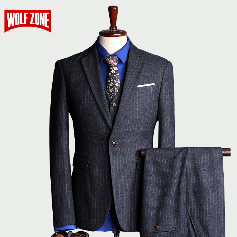 Brand Slim Fit Suit Men 2020 Wedding Mens Suits With Pants 3 Piece Set Fashion Business Casual Latest Design Man Blazer Jacket Leather Bag