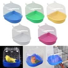 Plastic Pet Parrot Bird Bathtub Bird Bathtub Cage Pet Supplies Bird Bath Shower Standing Bathing Supplies