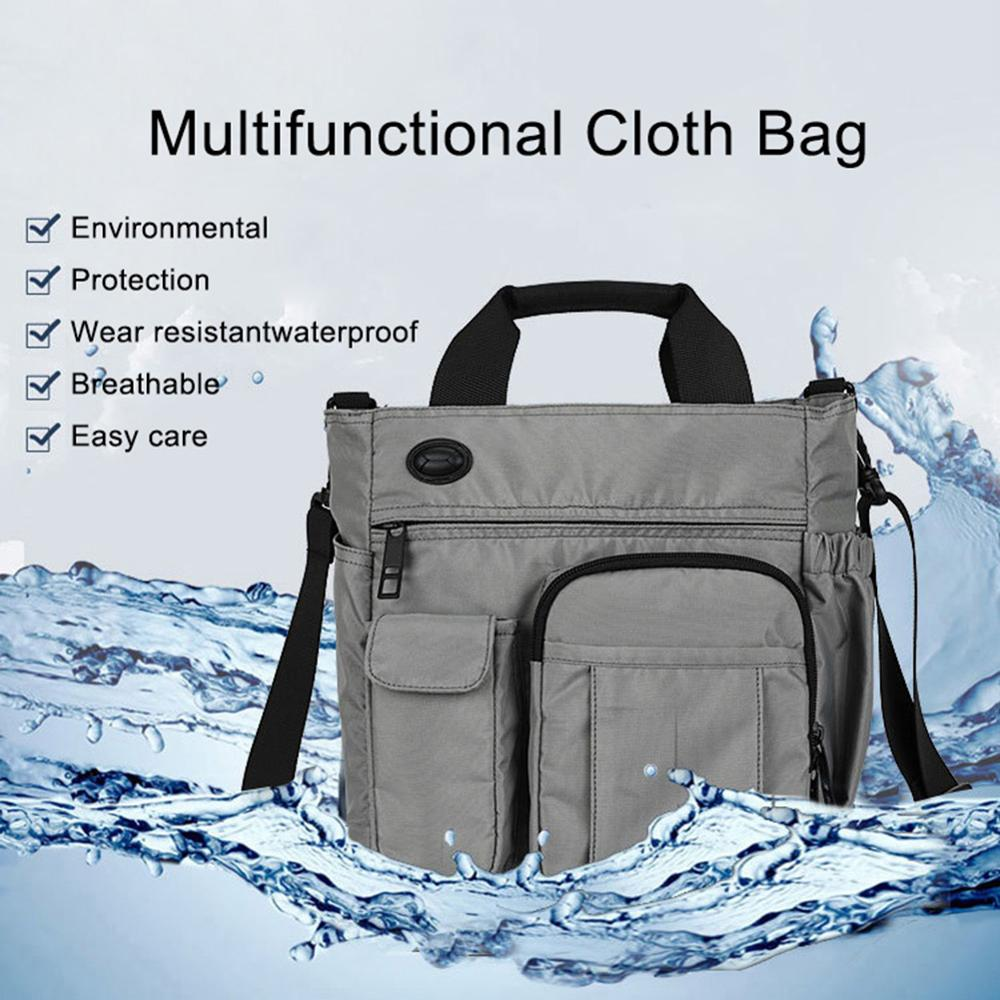 Shoulder Bag Business Men Multi Zipper Tote Briefcase Crossbody Shoulder Laptop Bag Crossbody Bags For Men Anti Theft Bag School