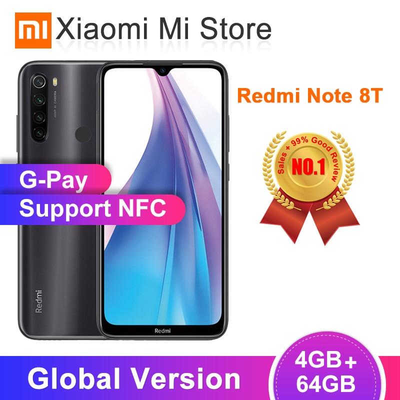 Global Version Xiaomi Redmi Note 8T 4GB RAM 64GB ROM NFC Mobile Phone 48MP Quad Rear Camera Snapdragon 665 Octa Core 4000mAh