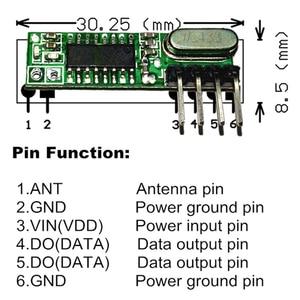 Image 5 - 1Pc  433Mhz Remote Control Wireless Module Diy Kit 433 Mhz Superheterodyne RF Receiver and Transmitter Module For Arduino Uno